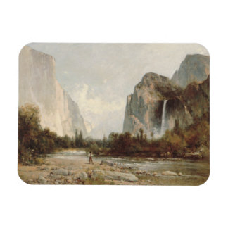 Thomas Hill - Yosemite, Bridal Veil Falls Rectangular Photo Magnet