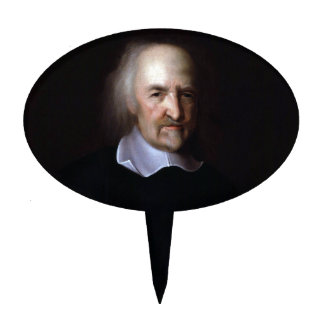 Thomas Hobbes by John Michael Wright Cake Topper