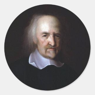 Thomas Hobbes by John Michael Wright Round Stickers