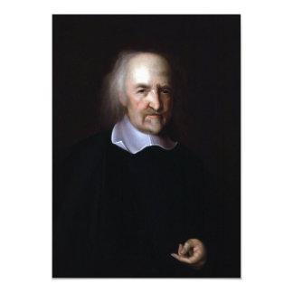 """Thomas Hobbes de Juan Michael Wright Invitación 5"""" X 7"""""""