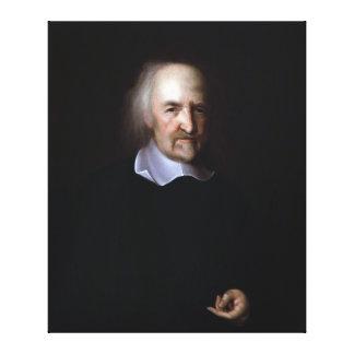 Thomas Hobbes de Juan Michael Wright Impresión De Lienzo