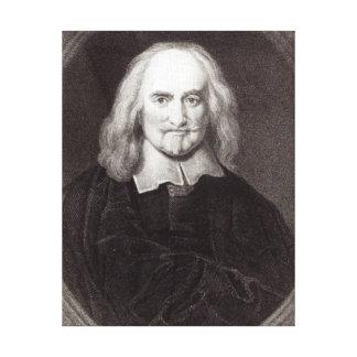 Thomas Hobbes de la 'galería de los retratos Impresión En Lona