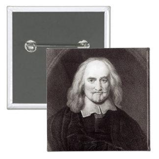 Thomas Hobbes de la 'galería de los retratos Pin Cuadrada 5 Cm