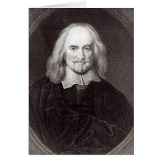 Thomas Hobbes de la 'galería de los retratos Tarjeta De Felicitación