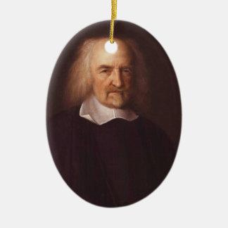 Thomas Hobbes de Malmesbury de Juan Michael Wright Adorno Navideño Ovalado De Cerámica