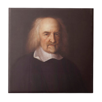Thomas Hobbes de Malmesbury de Juan Michael Wright Azulejo Cuadrado Pequeño