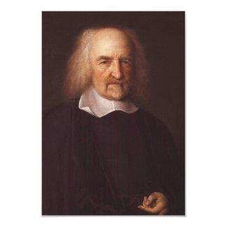 """Thomas Hobbes de Malmesbury de Juan Michael Wright Invitación 3.5"""" X 5"""""""