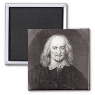 Thomas Hobbes  from 'Gallery of Portraits' 2 Inch Square Magnet