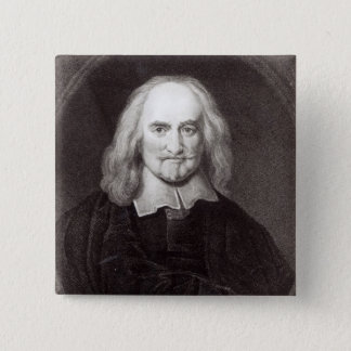 Thomas Hobbes  from 'Gallery of Portraits' Button