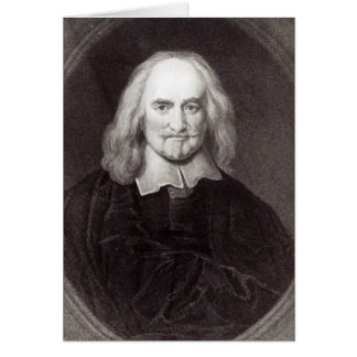Thomas Hobbes  from 'Gallery of Portraits' Greeting Cards