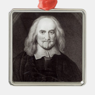 Thomas Hobbes  from 'Gallery of Portraits' Metal Ornament