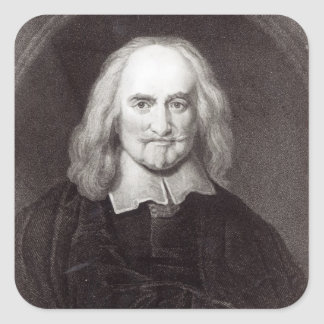 Thomas Hobbes  from 'Gallery of Portraits' Square Sticker