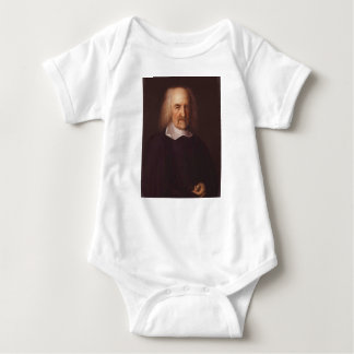 Thomas Hobbes of Malmesbury by John Michael Wright Baby Bodysuit