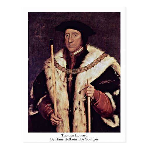 Thomas Howard By Hans Holbein The Younger Postcard