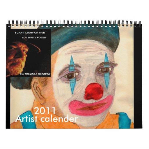 Thomas J Norbeck  Artist and Poet calendar