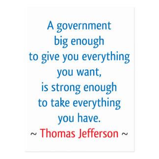 Thomas Jefferson #1 Tarjeta Postal