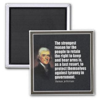 Thomas Jefferson 2 Inch Square Magnet