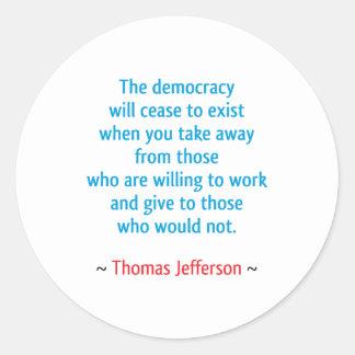 Thomas Jefferson #2 Stickers