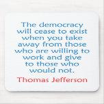 Thomas Jefferson #2 Tapetes De Raton