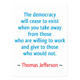 Thomas Jefferson #2 Tarjeta Postal