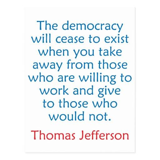 Thomas Jefferson #2 Tarjetas Postales