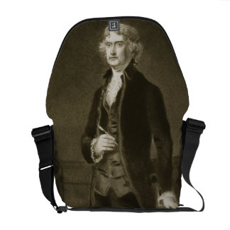 Thomas Jefferson, 3rd President of the United Stat Courier Bag