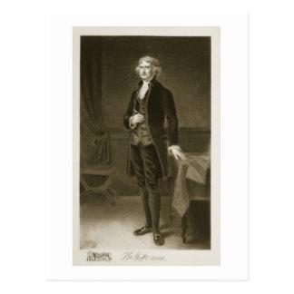 Thomas Jefferson, 3rd President of the United Stat Postcard