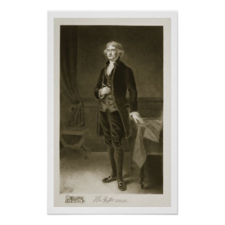 Thomas Jefferson 3rd President of the United Stat Poster