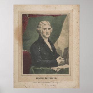 THOMAS JEFFERSON 3rd U.S. President Litho Poster