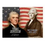 Thomas Jefferson - 3ro presidente de los E.E.U.U. Postales