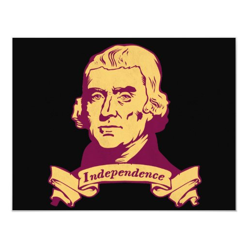 Thomas Jefferson 4.25x5.5 Paper Invitation Card