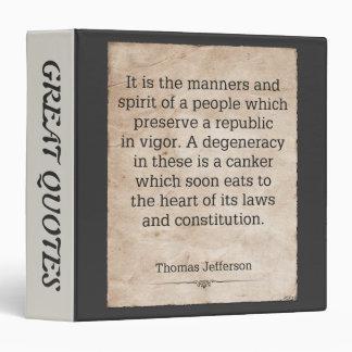 Thomas Jefferson #4 3 Ring Binder