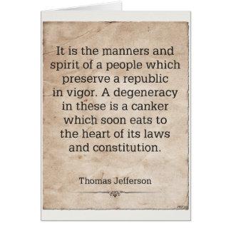Thomas Jefferson #4 Tarjeta De Felicitación