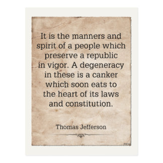 Thomas Jefferson #4 Tarjeta Postal