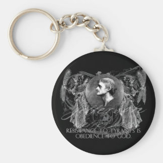 Thomas Jefferson a Hero on Resistance to Tyrants Keychain