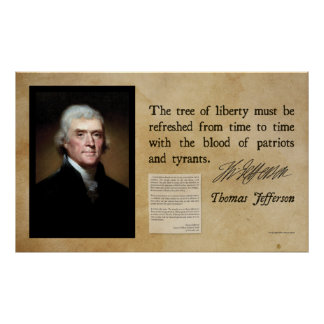 Thomas Jefferson - árbol de la libertad Posters