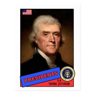 Thomas Jefferson Baseball Card Postcard