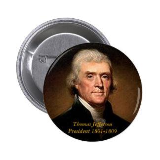 Thomas Jefferson - botón Pin Redondo De 2 Pulgadas