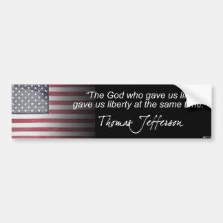 Thomas Jefferson Bumper Sticker