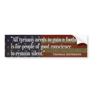 Thomas Jefferson Bumper Stickers bumpersticker