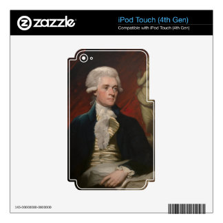 Thomas Jefferson by Mather Brown (1786) Decals For iPod Touch 4G