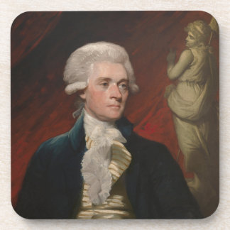 Thomas Jefferson by Mather Brown (1786) Drink Coaster