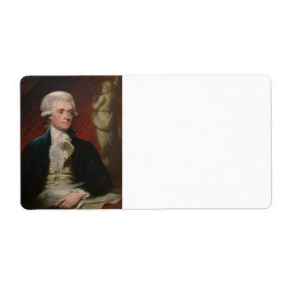Thomas Jefferson by Mather Brown (1786) Label