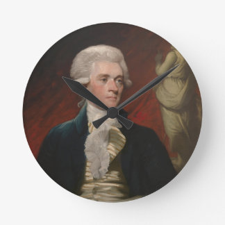 Thomas Jefferson by Mather Brown (1786) Round Clock