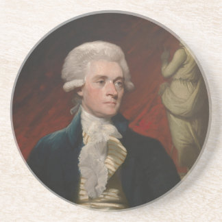 Thomas Jefferson by Mather Brown (1786) Sandstone Coaster