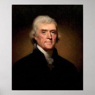 Thomas Jefferson by Rembrandt Peale - Circa 1800 Print