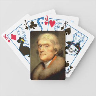 Thomas Jefferson by Rembrandt Peale Circa 1805 Bicycle Playing Cards