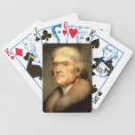 Thomas Jefferson by Rembrandt Peale Circa 1805 Bicycle Poker Deck