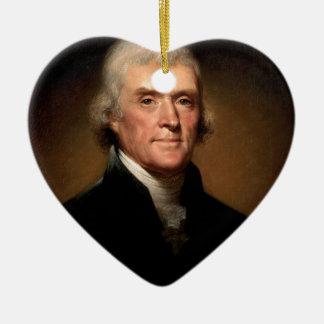 Thomas Jefferson Ceramic Ornament