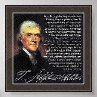 Thomas Jefferson - citas del múltiplo Póster